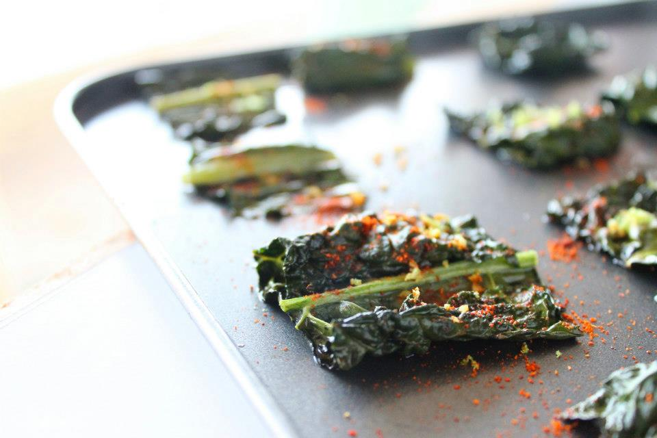 Lime and chili Kale chips