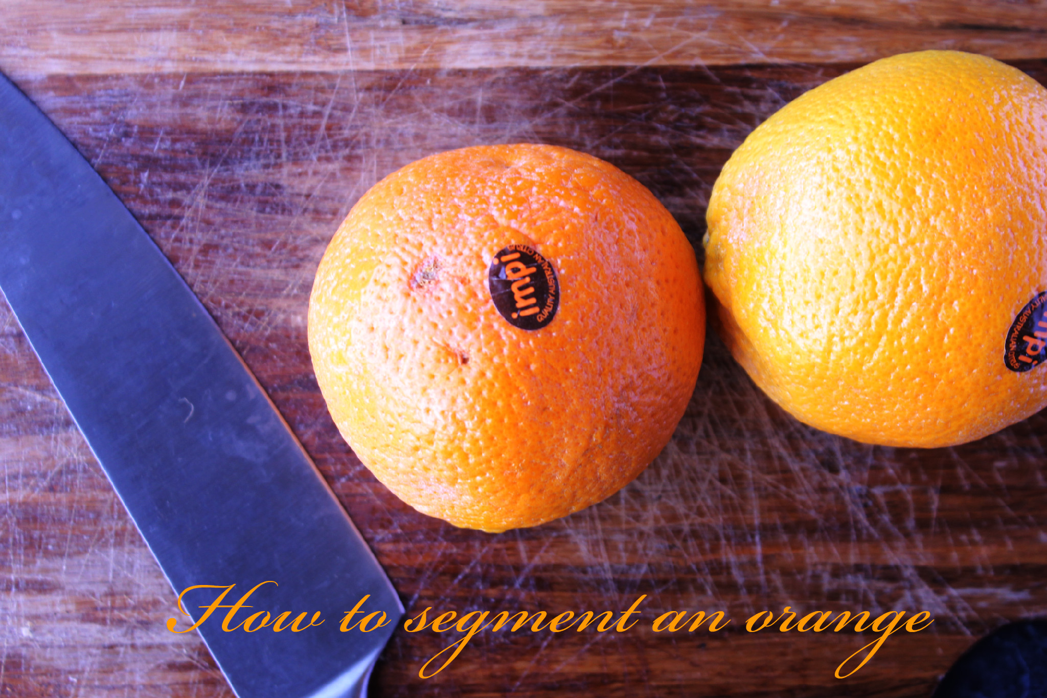 How to segment an orange