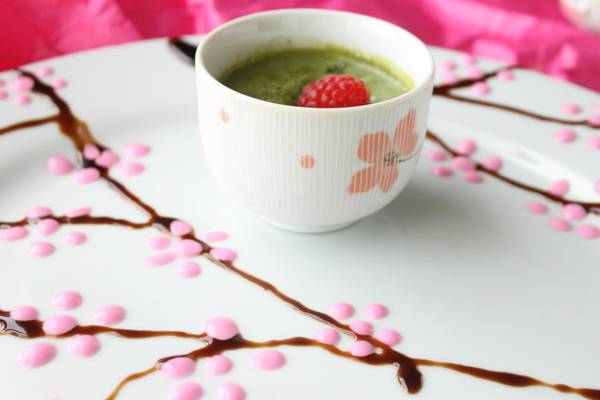 バラ水クリーム緑茶