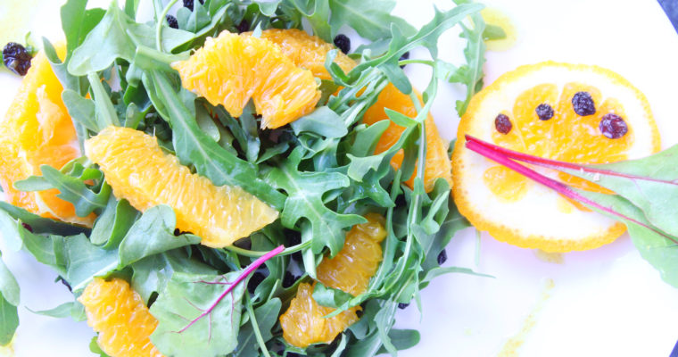 Orange, rocket and currant salad
