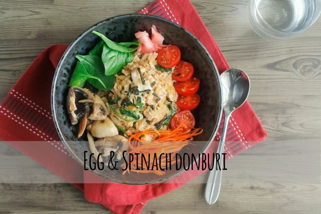 Egg & Spinach domburi